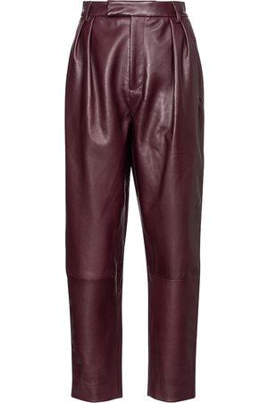Khaite Pantaloni Magdaline in pelle