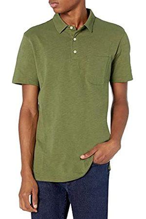 Goodthreads Marchio Amazon - Short-Sleeve Slub Polo, Bronze Green/Olive, M