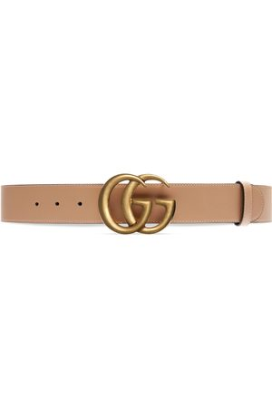 Gucci Cintura larga in pelle GG Marmont