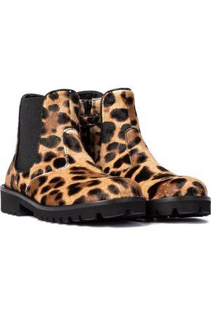 Dolce & Gabbana Stivaletti in cavallino leopardato