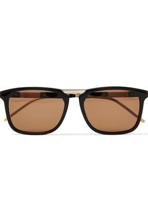 Gucci Uomo Occhiali da sole - Square-Frame Acetate and Gold-Tone Sunglasses