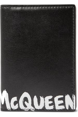 Alexander McQueen Uomo Portafogli e portamonete - Logo-Print Leather Bifold Cardholder