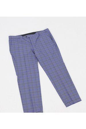 jack & jones Premium Plus - Pantaloni super slim eleganti a quadri