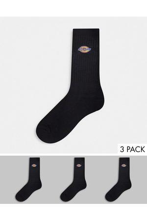 Dickies Valley Grove - Confezione da 3 calzini ricamati neri