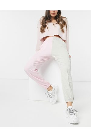 Love & Other Things Joggers colorblock rosa e grigi