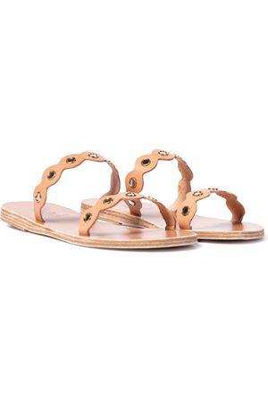 Ancient Greek Sandals Sandali Melia Mirrors in pelle
