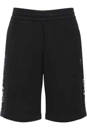 EA7 Shorts In Felpa Di Misto Cotone