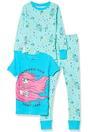 Spotted Zebra Disney Star Wars Marvel-Set di Pigiama in Cotone Aderente, 3 Pezzi Infant-And-Toddler-Pajama-Bottoms, Principessa Mermaid Hair, US XS