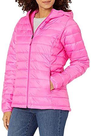 Amazon Giacca Leggera e Impermeabile con Cappuccio Down-Alternative-Outerwear-Coats, Fluo, 46-48