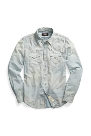 RRL Camicia western chambray Slim-Fit