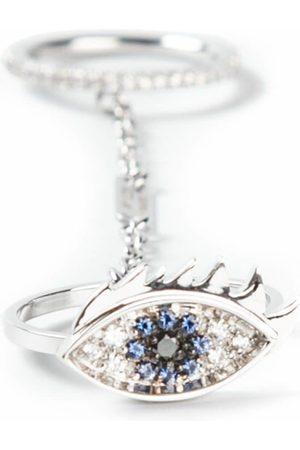 DELFINA DELETTREZ Anello occhio 'Two in one' con zaffiri e diamanti - Effetto metallizzato