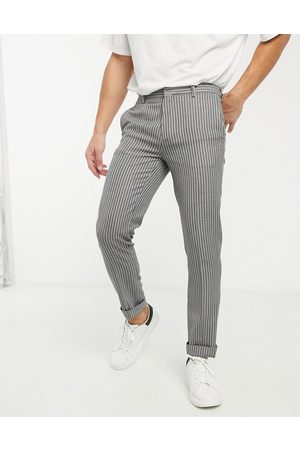 River Island Pantaloni skinny eleganti a righe