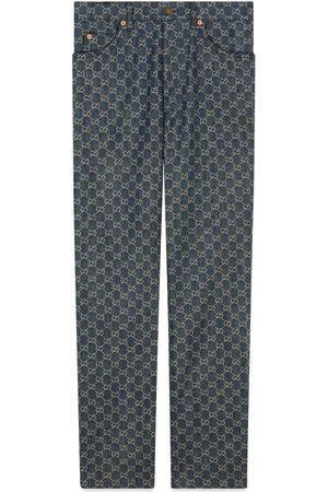 Gucci Uomo Pantaloni - Pantalone in denim GG con lavaggio eco