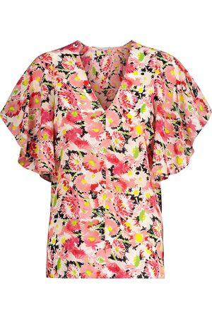 Stella McCartney Top a stampa floreale in seta
