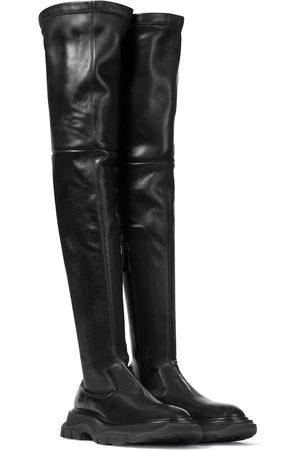 Alexander McQueen Stivali cuissardes Tread in pelle