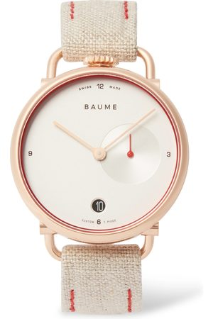 Baume 35mm PVD-Coated Stainless Steel and Linen-Webbing Watch, Ref. No. 10602