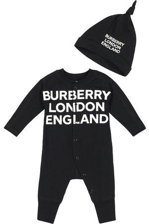 Burberry Baby - Tutina e berretto in cotone