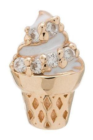 ALISON LOU Orecchino pendente in 14kt con diamanti