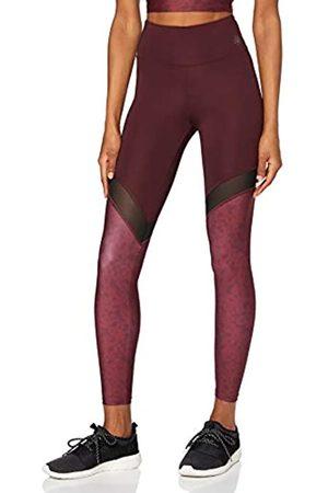 AURIQUE Leggings Yoga con Inserto in Mesh Donna, ., 40, Label:XS