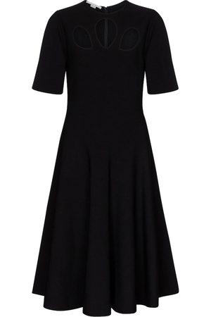 Stella McCartney Abito midi in jersey con cut-out
