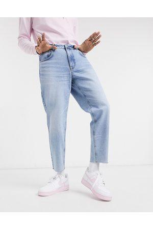 ASOS Jeans classici rigidi lavaggio chiaro vintage con fondo grezzo