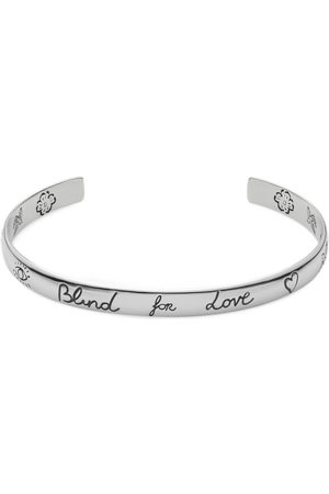 """Gucci Bracciale """"Blind For Love"""" in argento"""