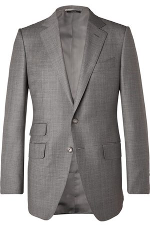 Tom Ford Uomo Giacche - O'Connor Slim-Fit Super 110s Sharkskin Wool Suit Jacket