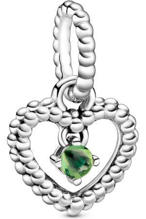 PANDORA Donna Collane - Charm Pendente A Cuore Verde Primavera Decorato Con Sfere Purely