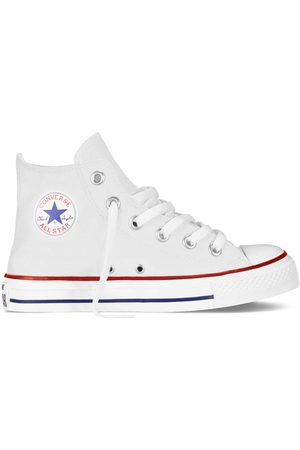 Converse All Star hi canvas bianche bambino