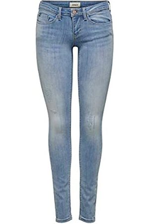 Only Onlcoral SL SK Jeans BB Cre185063 Skinny, Blu , 36 /L30 Donna