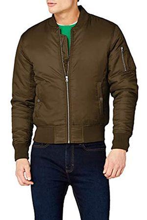 Urban classics Basic Bomber Jacket Giacca, Verde , S Uomo