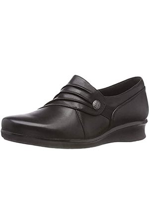 Clarks Hope Roxanne, Mocassini Donna, Nero , 41 EU