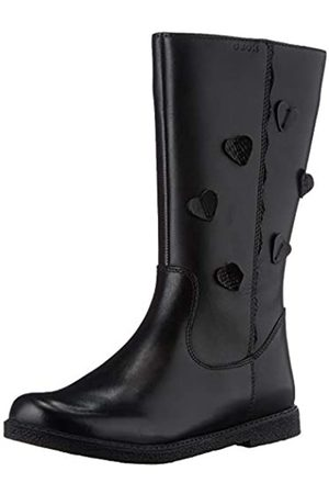Geox J Shawntel Girl B, Mid Calf Boot, Black , 33 EU