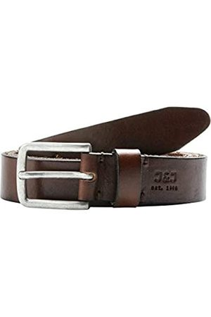 Jack & Jones JJILEE LEATHER BELT NOOS, Cintura Uomo, Marrone , 105 cm