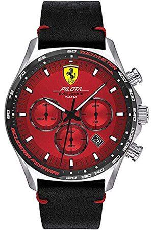 Scuderia Ferrari Orologio Analogico Quarzo Uomo con Cinturino in Pelle 830713