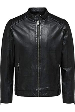 Selected Slh R-03 Racer Leather Jkt W Noos Giacca, Nero , X-Large Uomo
