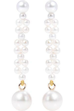 SOPHIE BILLE BRAHE Orecchini Tressé in oro 14kt con perle