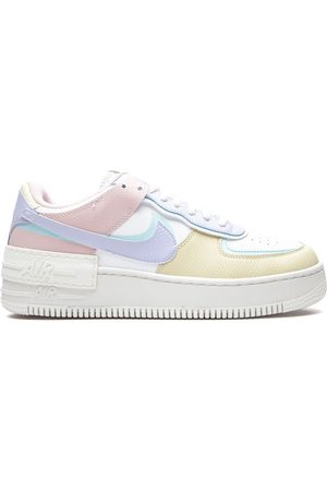 air force 1 ragazza bianche e rosa