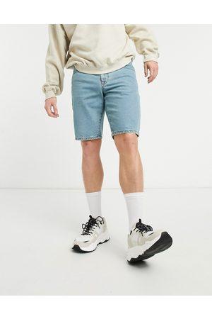 ASOS Uomo Pantaloncini - Pantaloncini di jeans slim lavaggio chiaro sfumato