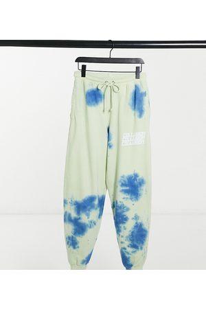 COLLUSION Unisex - Joggers oversize con stampa tie-dye