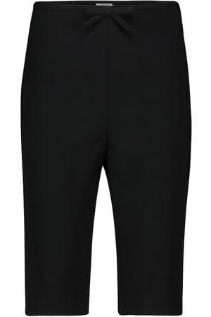Miu Miu Shorts in faille cady a vita alta