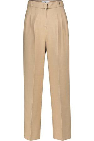 Frankie Shop Pantaloni a vita alta in crêpe stretch