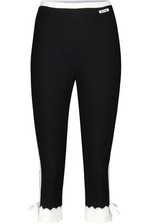 Miu Miu Donna Stretch - Pantaloni cropped in jersey stretch