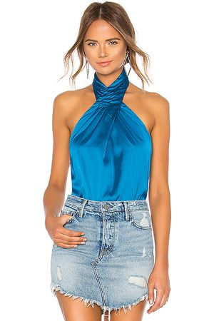 superdown Amerie Pleated Halter Top in - Royal. Size M (also in XXS, S).