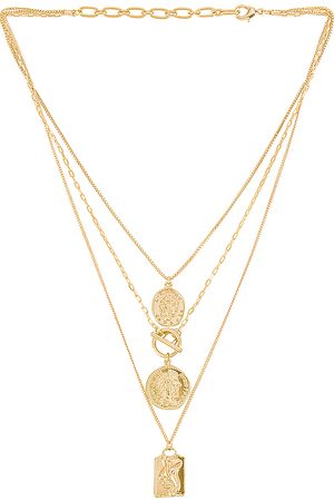 Amber Sceats Layered Coin Necklace in - Metallic . Size all.