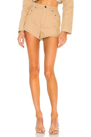 h:ours Donna Pantaloncini - Midtown Shorts in - Tan. Size L (also in XXS, XS, S, M, XL).