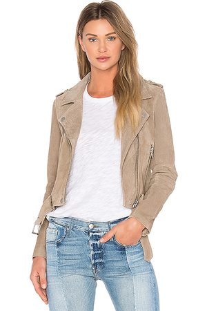 BLANK NYC Suede Moto Jacket in - Brown. Size L (also in M, S, XS).