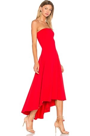 Susana Monaco Strapless Hi Low Dress in - Red. Size L (also in M, S, XS).
