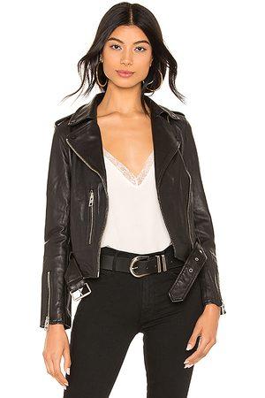 AllSaints Balfern Leather Biker Jacket in - . Size 0 (also in 2, 4, 8).