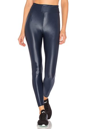 Koral Lustrous High Rise Legging in - Blue. Size L (also in M, S, XS).